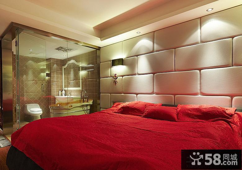 带卫生间主卧室床头背景墙效果图图片