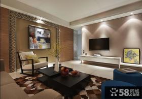 现代简约风格客厅电视背景墙装修设计图