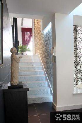 现代风格别墅楼梯玄关摆件图片