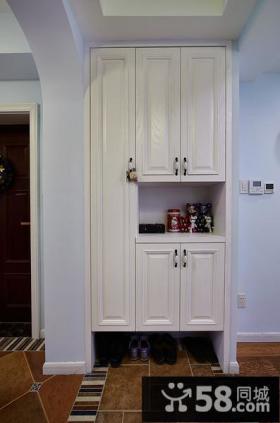 白色组合鞋柜