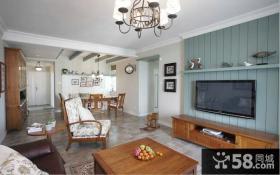 美式家庭设计小客厅图片欣赏