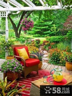 乡村别墅庭院景观设计效果图
