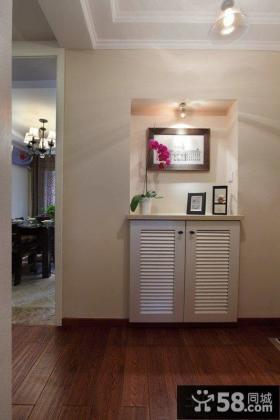 美式家居新房鞋柜玄关装修图片