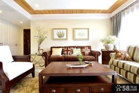 美式田园风格100平米公寓装修效果图欣赏