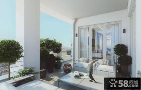 豪华别墅开放式阳台设计效果图大全2014图片