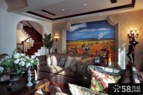 小复式楼客厅装修效果图欣赏