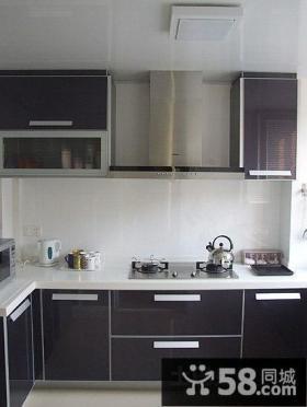 两室两厅黑色厨房装修效果图大全2014图片