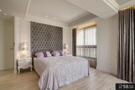欧式装修家居卧室床摆放效果图
