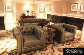 奢华欧式客厅沙发摆放效果图