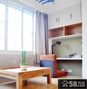 家装设计小户型书房榻榻米效果图