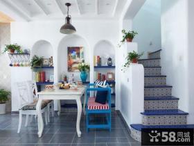 地中海风格复式家居楼梯效果图