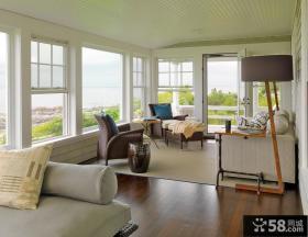 客厅与阳台隔断 欧式乡村风格客厅装修效果图