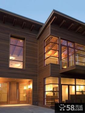 现代别墅外观窗户图片