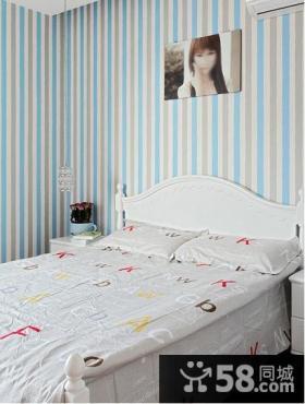 现代风格二居卧室样板房装修效果图