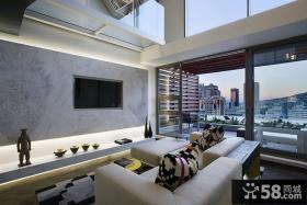 奢华现代简约设计复式室内装修图片