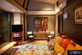 美式风格卧室电视背景墙装修效果图