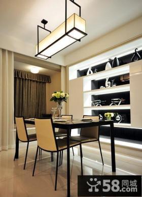 简约现代设计复式家居餐厅装修效果图
