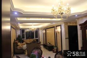 欧式新古典风格小户型客厅吊顶装修效果图