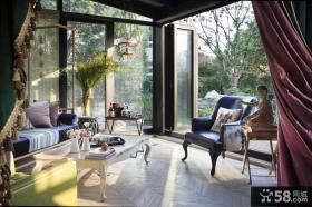 简欧复古设计别墅客厅装饰效果图