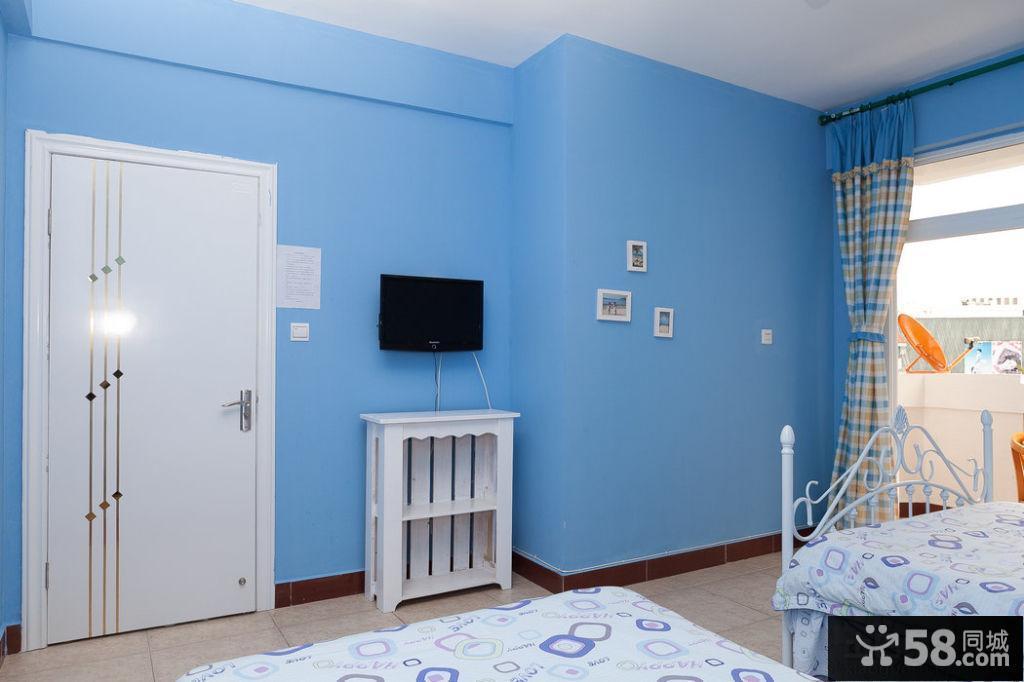 地中海設計臥室電視背景墻圖片