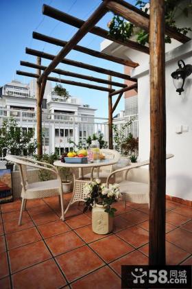 地中海风格露天阳台装修效果图