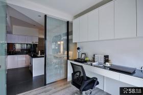 现代小户型家居工作台效果图