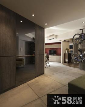 小户型黑灰色的玄关装修效果图大全2012图片