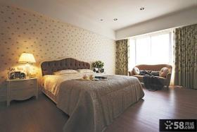 美式古典风格小碎花卧室设计装修