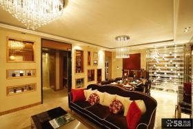 客厅餐厅水晶灯吊灯装修效果图