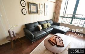 复式客厅沙发背景墙装修效果图大全2013图片