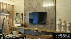 宜家风格小客厅电视背景墙设计