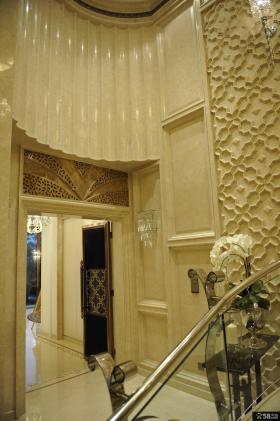 现代欧式别墅家居楼梯间设计图片2014
