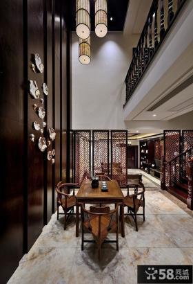 别墅家用餐厅中式装潢设计图片