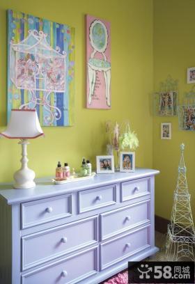 儿童房墙壁装饰效果图