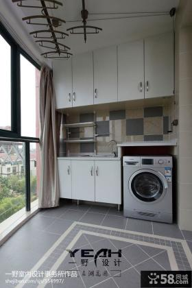 现代阳台洗衣房装修效果图欣赏