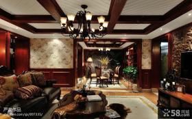 客厅餐厅一体吊顶效果图大全2013