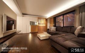 简约型客厅电视背景墙隔断效果图