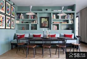 后现代风格设计餐厅装修图片