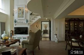 简欧复古复式家居装饰设计效果图