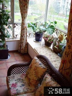 田园风格客厅阳台装修效果图欣赏