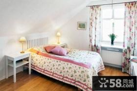 116平米阳光公寓,田园风格复式楼卧室阁楼装修效果图大全2012图片