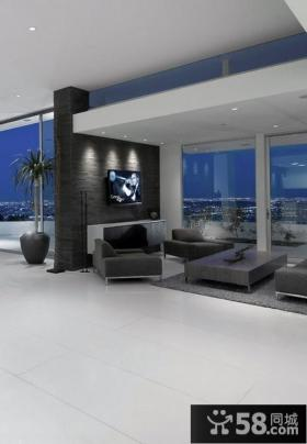 客厅隔断电视背景墙效果图大全2012图片
