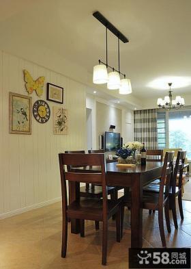 优质美式家居一室一厅户型装修效果图大全2014