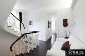 时尚豪华极简主义风格复式楼梯装修效果图
