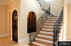 别墅铁艺楼梯图片