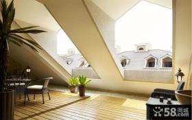 复式斜顶阁楼装修效果图大全2013图片