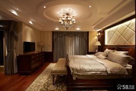 美式风格卧室电视墙效果图