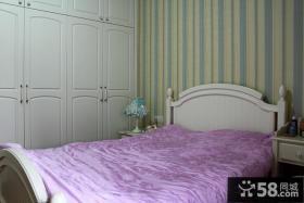 欧式卧室床头壁纸装修效果图