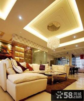 现代简约家装客厅吊顶效果图大全2013图片