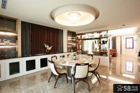 家庭餐厅圆形吊顶装修效果图